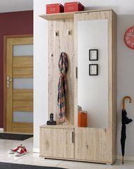 Nejlevnější nábytek Předsíň KAMET (věšák, botník, zrcadlo, skříň), sanremo