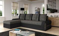 Nejlevnější nábytek Rohová sedačka MENKET 2, černá látka/černá ekokůže