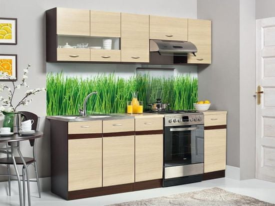 Nejlevnější nábytek Kuchyně BELISA 160/220 cm, rijeka světlá