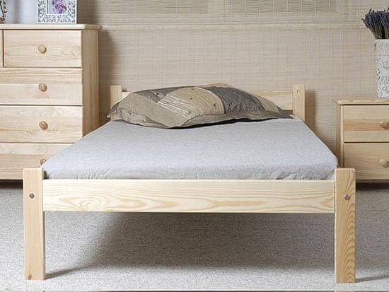Nejlevnější nábytek Postel BRODY 90x200 cm s roštem, masiv borovice