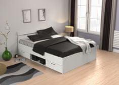Nejlevnější nábytek LETENYE, postel 140x200 cm, bílá