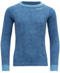 Devold fantovska majica Duo Active Kid Shirt, 128, modra