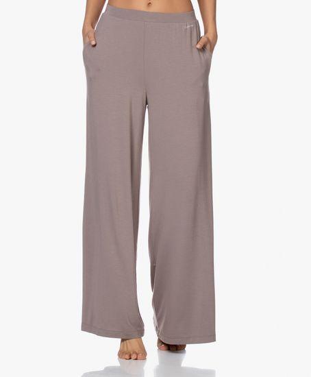 Calvin Klein Dámské pyžamové kalhoty QS6397E-DVB hnědá - Calvin Klein