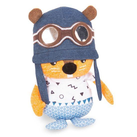 toTs Pluszowa zabawka z zestawem naklejek z literami Wiewiórka