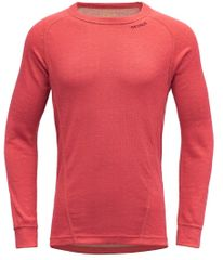 Devold Duo Active Junior Shirt dekliška funkcionalna majica, rdeča, 140