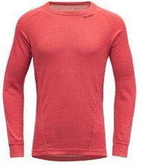 Devold Duo Active Junior Shirt dekliška funkcionalna majica, rdeča, 152
