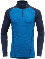 Devold Duo Active Junior Zip Neck fantovska funkcionalna majica, modra, 140