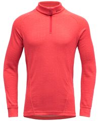 Devold Duo Active Junior Zip Neck dekliška funkcionalna majica, rdeča, 140
