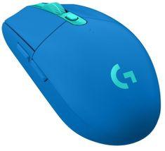Logitech G305 Lightspeed brezžična gaming miška, modra