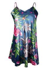 DKaren Dámská spodnička/košilka DKaren Flowers HK 001 perlová-růžová L