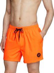 4F Pánské plavkové šortky 4F SKMT001 oranžové S