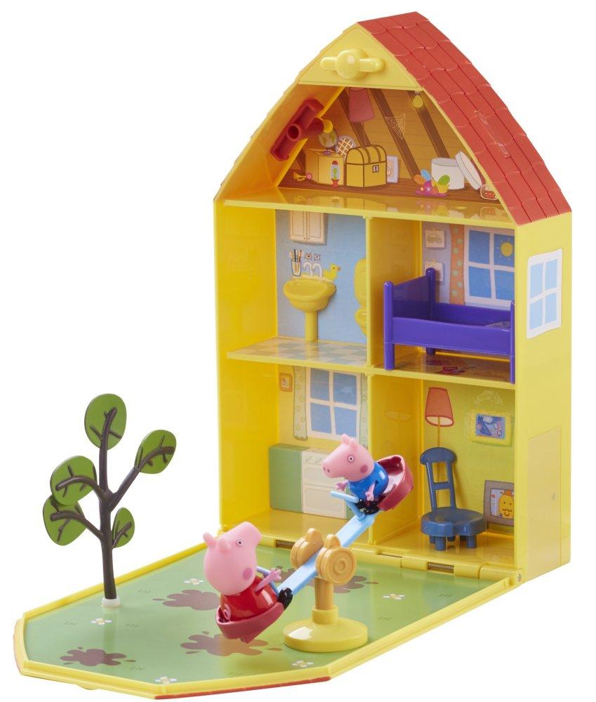TM Toys Peppa Pig - domeček se zahrádkou + figurka a příslušenství