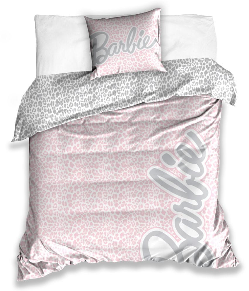Carbotex Saténové povlečení Barbie 140x200/ 70x90 cm