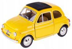 BBurago auto Fiat 500 F 1965 1:24, żółty