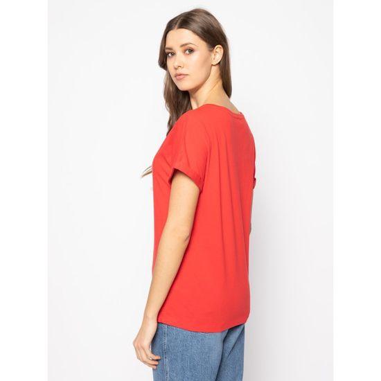 Emporio Armani Dámské tričko 164340 0P291 00074 červená - Emporio Armani