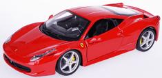 BBurago auto Ferrari 458 Italia 1:24, czerwony