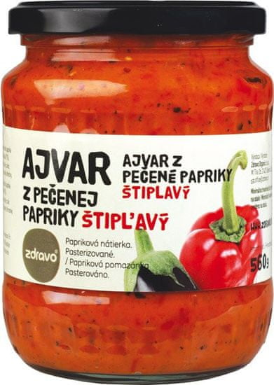 Zdravo  Ajvar z pečenej papriky štipľavý 560g (bal. 6ks)