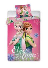 FARO Textil Dětské povlečení Anna a Elsa 140x200 cm