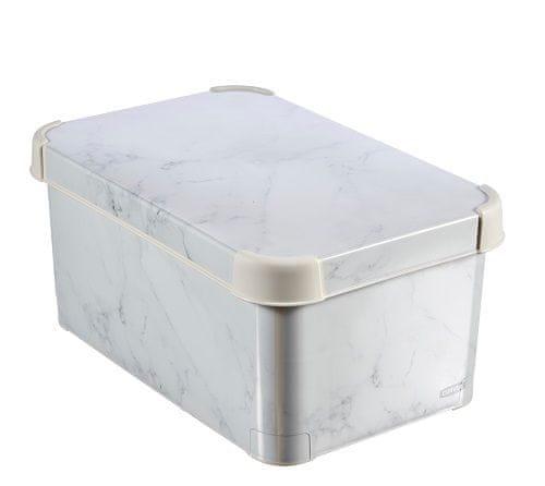 CURVER pudełko do przechowywania L Marmur