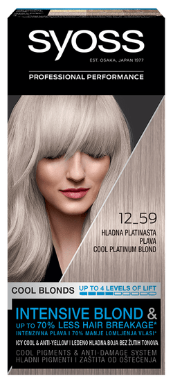 Syoss Baseline Color barva za lase, 12-59 hladno platinasto blond