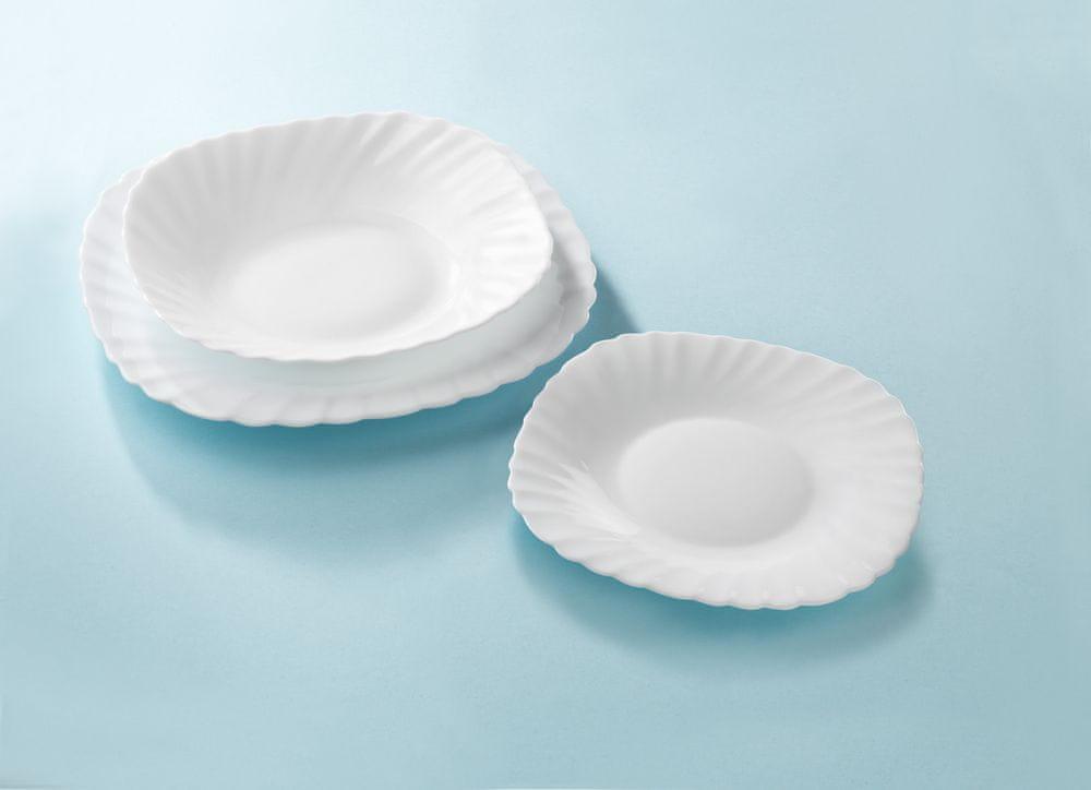 MAISON FORINE Verona set 6 ks desertních talířů 20 cm, opálové sklo
