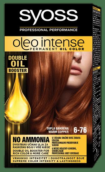 Syoss Oleo Intense barva za lase, 6-76 toplo bakrena