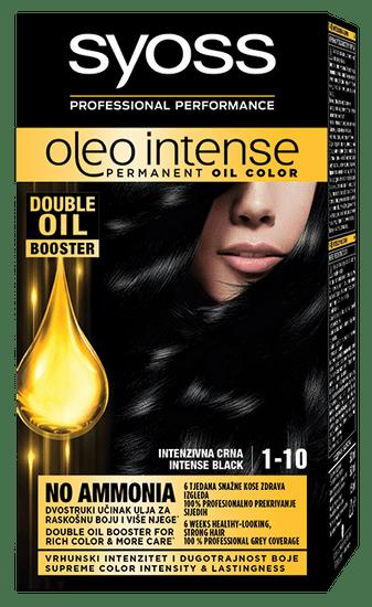 Syoss Oleo Intense barva za lase, 1-10 intenzivno črna