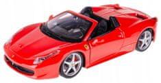 BBurago model Ferrari 458 Spider 1:24, rdeč