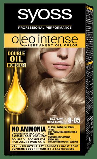 Syoss Oleo Intense barva za lase, 8-05 bež blond