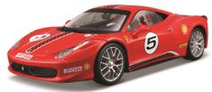 BBurago model 1:24 Ferrari Racing 458 Challenge czerwony