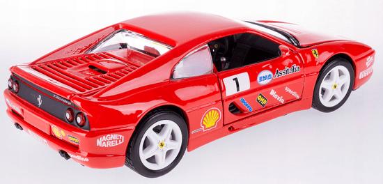 BBurago model Ferrari Racing F355 Challenge, 1:24, rdeč