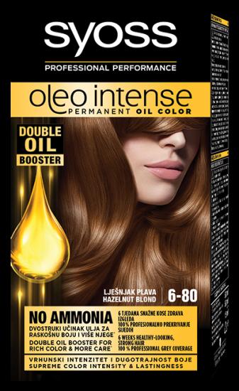 Syoss Oleo Intense barva za lase, 6-80 lešnik blond