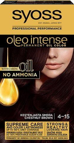 Syoss Oleo Intense barva za lase, 4-15 kostanjevo rjava