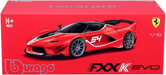 BBurago model 1:18 Ferrari Signature series FXX-K EVO No.54 czerwony