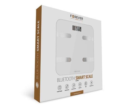 Forever AS-100 pametna tehtnica, Bluetooth, bela