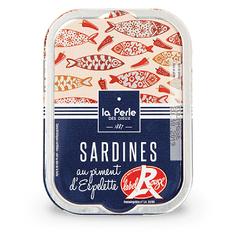 """La Perle des Dieux Francouzské sardinky """"Label Rouge"""" s Espelette paprikou 115g"""