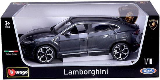 BBurago model 1:18 Plus Lamborghini Urus szary