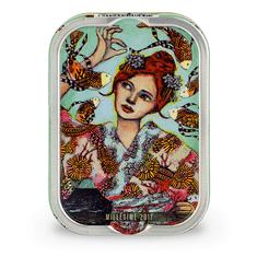 "La Perle des Dieux Francouzské sardinky v extra panenském oliv. oleji ""Mlle Perle au Japon"" 115g"