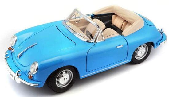 BBurago model 1:18 Porsche 356B Cabriolet 1961 niebieski