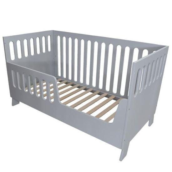 Dječji krevetić Nikita, sivi