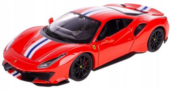 BBurago model 1:24 Ferrari TOP 488 Pista czerwony