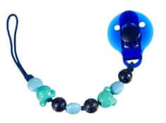 Difrax Klip na dudlík modré korálky