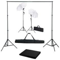 shumee Foto studio set s fotopozadím, osvětlením a deštníky