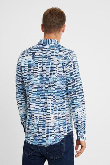 Desigual modra moška srajca Cam Adel - XL