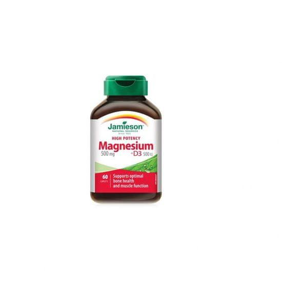 Jamieson Magnezij 500 + Vitamin D3 kapsule močne jakosti, 60 kapsul (798372)