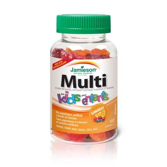 Jamieson Multi For Kids vitamini in minerali za otroke, 60 želejčkov (799778)