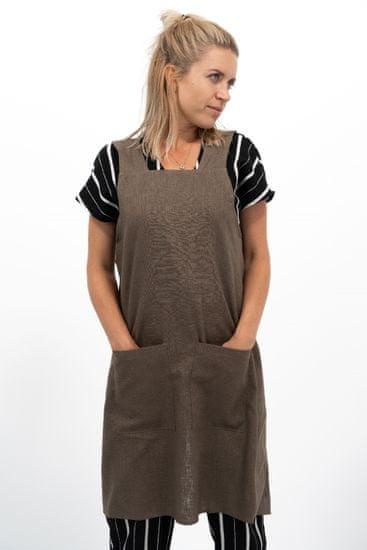 Vondrak design fartuch crossback - brązowy