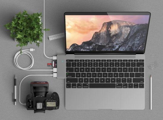 Satechi Pass-Through USB-C hub, 5 vhodov, Space Grey