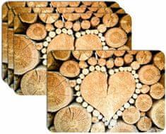 RoomDecor.eu Prestieranie-075 imitácia dreva, 4 Ks