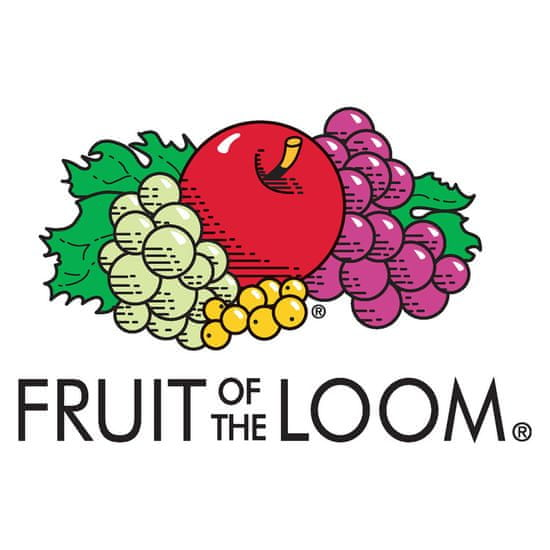 shumee Fruit of the Loom Originalne majice 5 kosov črne 5XL bombaž